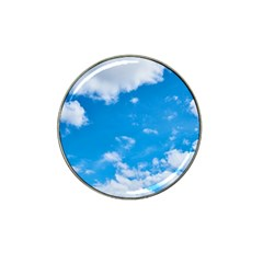 Sky Blue Clouds Nature Amazing Hat Clip Ball Marker (4 Pack) by Simbadda