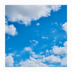 Sky Blue Clouds Nature Amazing Medium Glasses Cloth (2 Side) by Simbadda