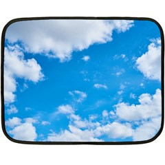 Sky Blue Clouds Nature Amazing Double Sided Fleece Blanket (mini)  by Simbadda
