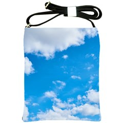 Sky Blue Clouds Nature Amazing Shoulder Sling Bags by Simbadda