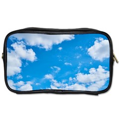 Sky Blue Clouds Nature Amazing Toiletries Bags by Simbadda