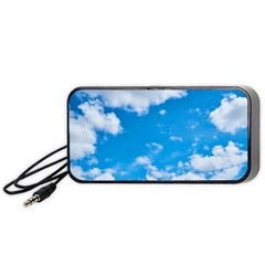 Sky Blue Clouds Nature Amazing Portable Speaker (black) by Simbadda