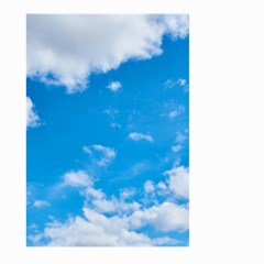 Sky Blue Clouds Nature Amazing Large Garden Flag (two Sides) by Simbadda