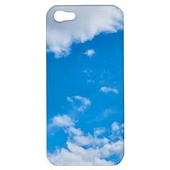 Sky Blue Clouds Nature Amazing Apple Iphone 5 Hardshell Case by Simbadda