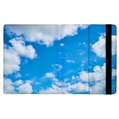 Sky Blue Clouds Nature Amazing Apple Ipad 2 Flip Case by Simbadda