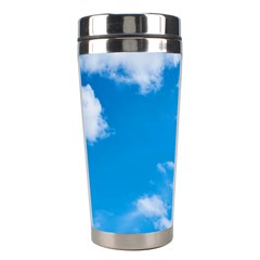 Sky Blue Clouds Nature Amazing Stainless Steel Travel Tumblers by Simbadda