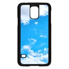 Sky Blue Clouds Nature Amazing Samsung Galaxy S5 Case (black) by Simbadda