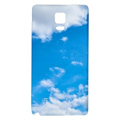 Sky Blue Clouds Nature Amazing Galaxy Note 4 Back Case by Simbadda