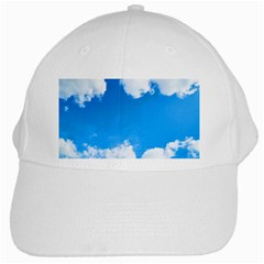 Sky Clouds Blue White Weather Air White Cap by Simbadda