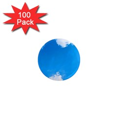 Sky Clouds Blue White Weather Air 1  Mini Magnets (100 Pack)  by Simbadda