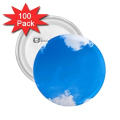 Sky Clouds Blue White Weather Air 2 25  Buttons (100 Pack)  by Simbadda