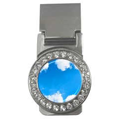 Sky Clouds Blue White Weather Air Money Clips (cz)  by Simbadda