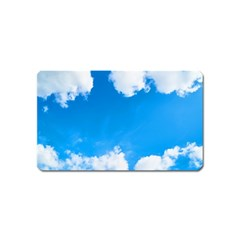 Sky Clouds Blue White Weather Air Magnet (name Card) by Simbadda