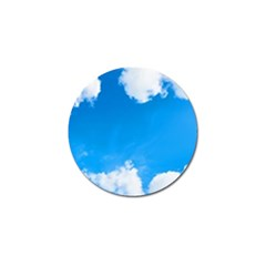 Sky Clouds Blue White Weather Air Golf Ball Marker (10 Pack) by Simbadda
