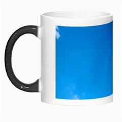 Sky Clouds Blue White Weather Air Morph Mugs by Simbadda