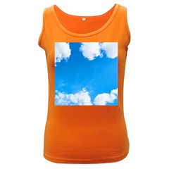 Sky Clouds Blue White Weather Air Women s Dark Tank Top by Simbadda