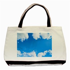 Sky Clouds Blue White Weather Air Basic Tote Bag by Simbadda