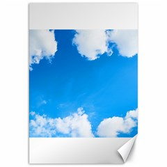 Sky Clouds Blue White Weather Air Canvas 20  X 30   by Simbadda