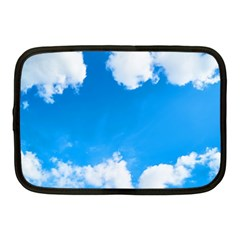 Sky Clouds Blue White Weather Air Netbook Case (medium)  by Simbadda