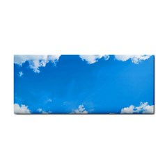 Sky Clouds Blue White Weather Air Cosmetic Storage Cases by Simbadda