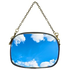 Sky Clouds Blue White Weather Air Chain Purses (one Side)  by Simbadda