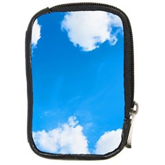 Sky Clouds Blue White Weather Air Compact Camera Cases by Simbadda