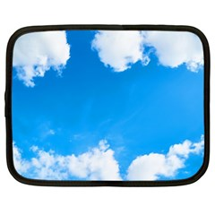 Sky Clouds Blue White Weather Air Netbook Case (xl)  by Simbadda