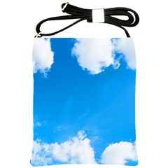 Sky Clouds Blue White Weather Air Shoulder Sling Bags by Simbadda