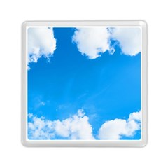 Sky Clouds Blue White Weather Air Memory Card Reader (square)  by Simbadda