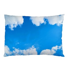 Sky Clouds Blue White Weather Air Pillow Case (two Sides) by Simbadda