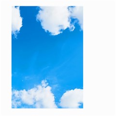 Sky Clouds Blue White Weather Air Large Garden Flag (two Sides) by Simbadda