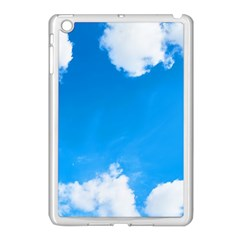 Sky Clouds Blue White Weather Air Apple Ipad Mini Case (white) by Simbadda