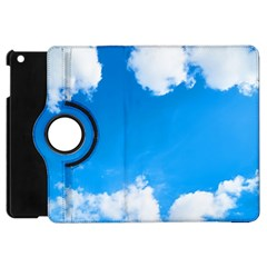 Sky Clouds Blue White Weather Air Apple Ipad Mini Flip 360 Case by Simbadda