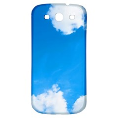 Sky Clouds Blue White Weather Air Samsung Galaxy S3 S Iii Classic Hardshell Back Case by Simbadda