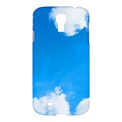 Sky Clouds Blue White Weather Air Samsung Galaxy S4 I9500/i9505 Hardshell Case by Simbadda
