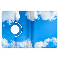 Sky Clouds Blue White Weather Air Kindle Fire Hdx Flip 360 Case by Simbadda