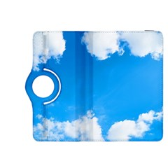 Sky Clouds Blue White Weather Air Kindle Fire Hdx 8 9  Flip 360 Case by Simbadda