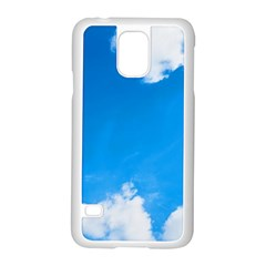 Sky Clouds Blue White Weather Air Samsung Galaxy S5 Case (white) by Simbadda