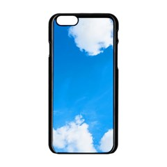 Sky Clouds Blue White Weather Air Apple Iphone 6/6s Black Enamel Case by Simbadda