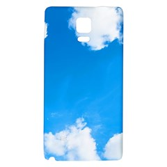 Sky Clouds Blue White Weather Air Galaxy Note 4 Back Case by Simbadda