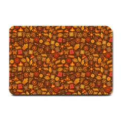 Pattern Background Ethnic Tribal Small Doormat  by Simbadda