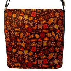 Pattern Background Ethnic Tribal Flap Messenger Bag (s) by Simbadda