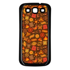 Pattern Background Ethnic Tribal Samsung Galaxy S3 Back Case (black) by Simbadda