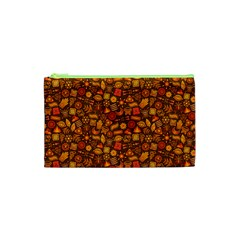Pattern Background Ethnic Tribal Cosmetic Bag (xs) by Simbadda