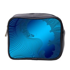 Fractals Lines Wave Pattern Mini Toiletries Bag 2 Side by Simbadda
