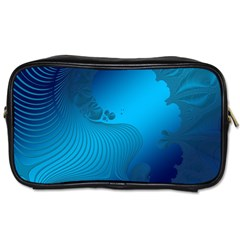 Fractals Lines Wave Pattern Toiletries Bags 2 Side by Simbadda