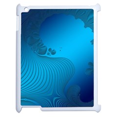 Fractals Lines Wave Pattern Apple Ipad 2 Case (white) by Simbadda