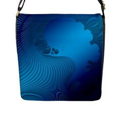 Fractals Lines Wave Pattern Flap Messenger Bag (l)  by Simbadda
