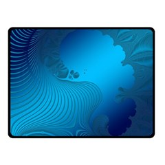 Fractals Lines Wave Pattern Double Sided Fleece Blanket (small)  by Simbadda