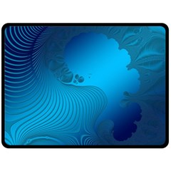 Fractals Lines Wave Pattern Double Sided Fleece Blanket (large)  by Simbadda